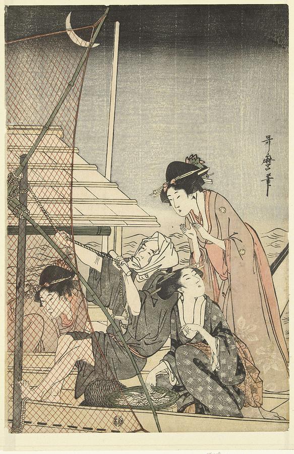 Nightly Fishing, Kitagawa Utamaro, 1795 - 1800 Painting