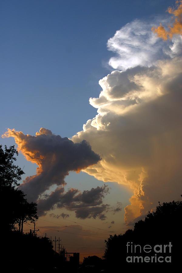 Landscape Photograph - Nightly Storm by Steve Augustin