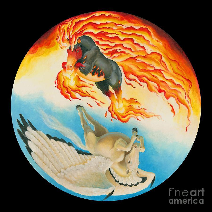 Nightmare and Mesa Pegasus Yin Yang by Melissa A Benson