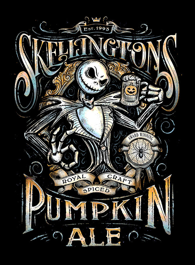 nightmare digital art nightmare before christmas skellingtons pumpkin ale by ian king - A Nightmare Before Christmas