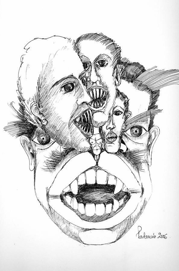 Surreal Drawing - Nightmares by Padamvir Singh