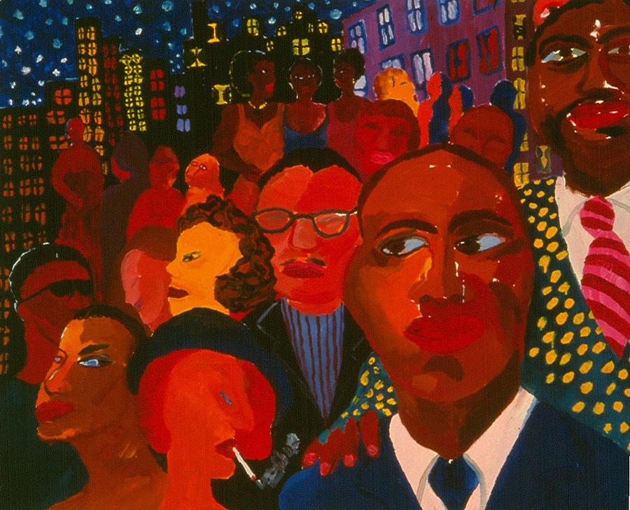 Nightpeople Painting by Nina Talbot
