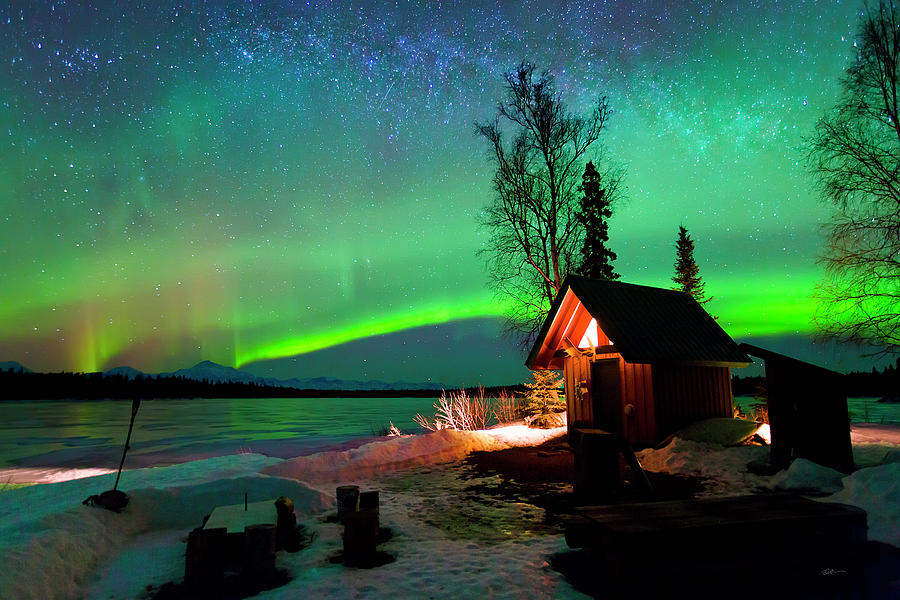 Cabin Photograph - Nights Bliss by Ed Boudreau