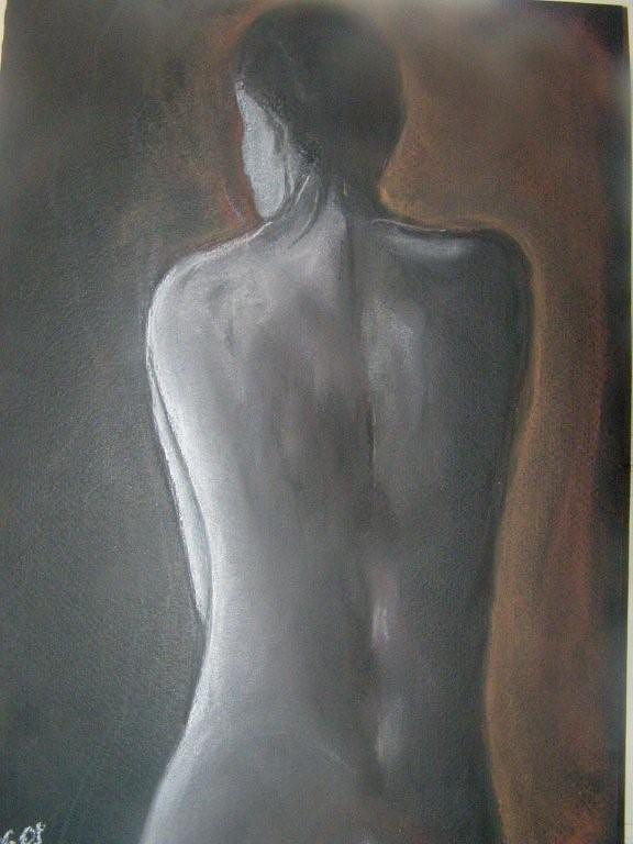 Nude Drawing - Nights Dream by Joanna  Kasprzak
