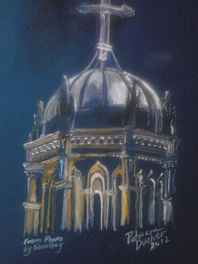 Nights Of Lights Presbyterian Memorial Church St Augustine Florida  Painting by Patricia Ducher