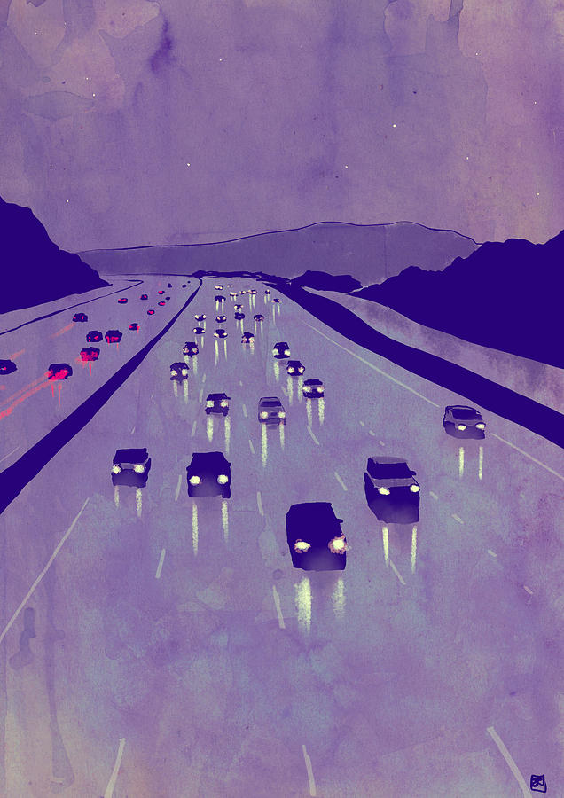 Storyboard Artist Drawing - Nightscape 01 by Giuseppe Cristiano