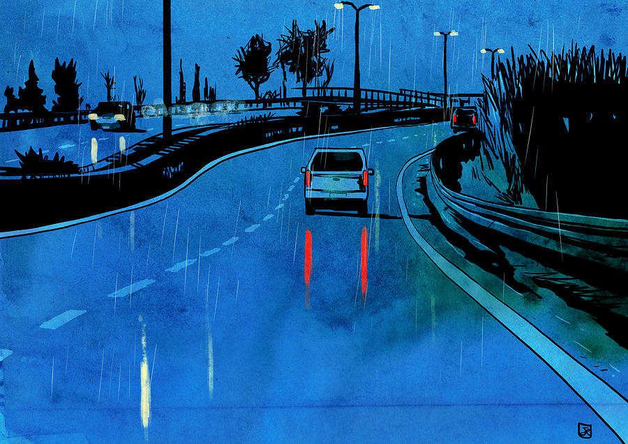 Storyboard Artist Drawing - Nightscape 03 by Giuseppe Cristiano