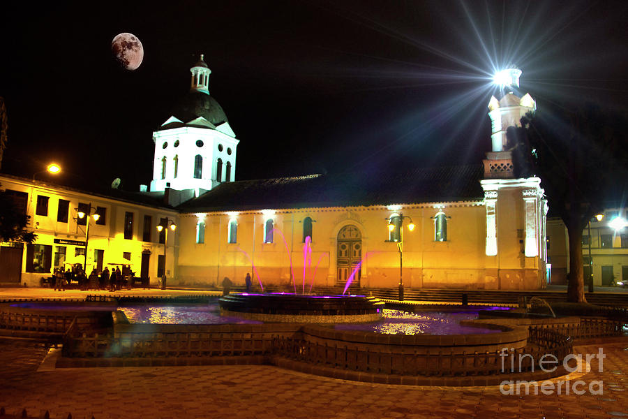 Catholic Photograph - Nighttime At San Sebastian by Al Bourassa