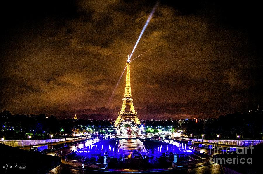 Nighttime Eiffel Tower Photograph