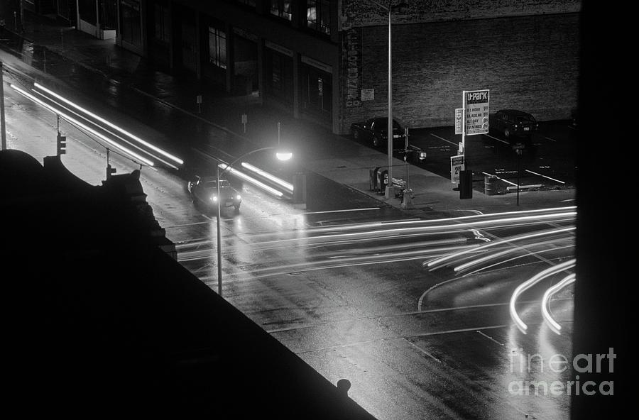 Travel Photograph - Nighttime Street Scene With Traffic by Jim Corwin