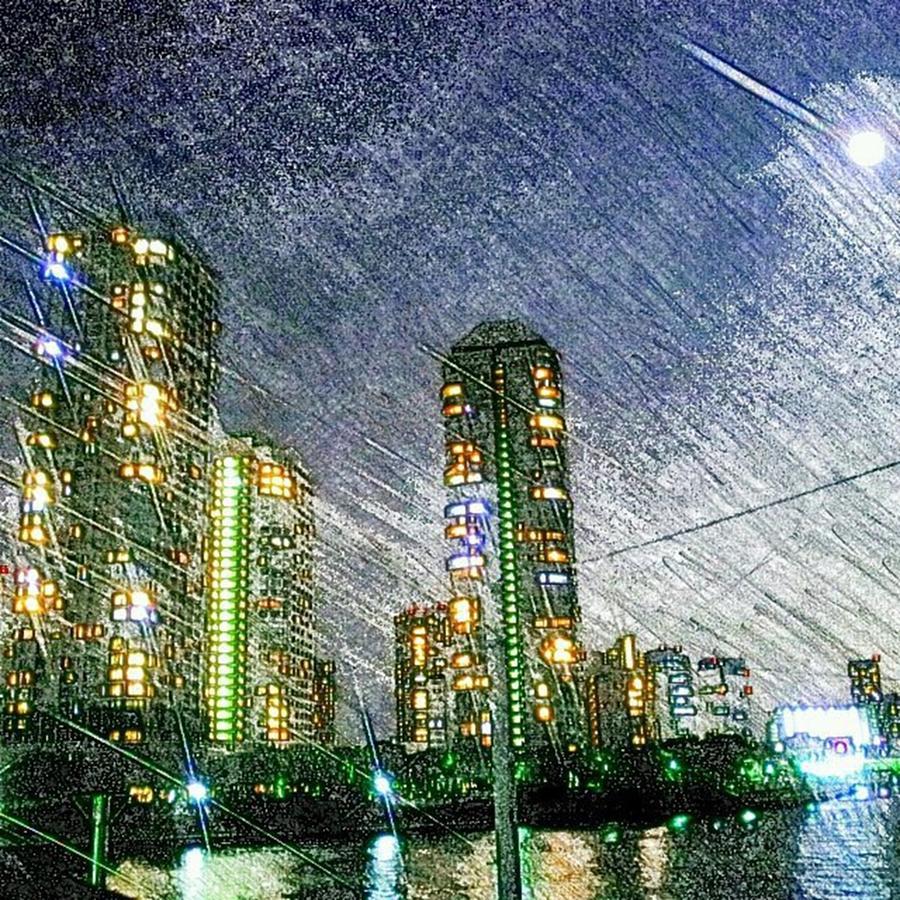 Building Photograph - Tokyo River by Daisuke Kondo