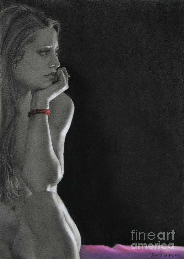 Pensive Drawing - Nightwatch by Kelly Borsheim