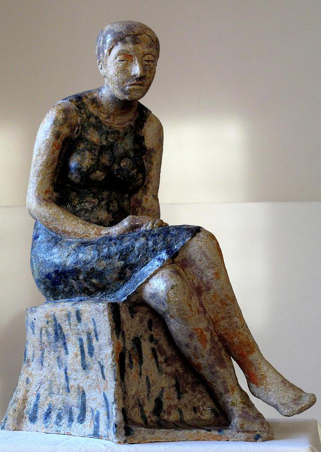 Ceramics Sculpture - Nijole by Raimonda Jatkeviciute-Kasparaviciene
