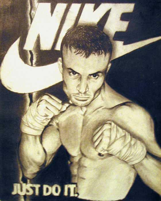 Boxing Drawing - Nike Ad-Boxer by Kyle Adamache