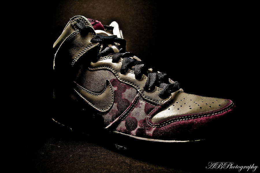 Product Photography Photograph - Nike Dunks by Allison Badely