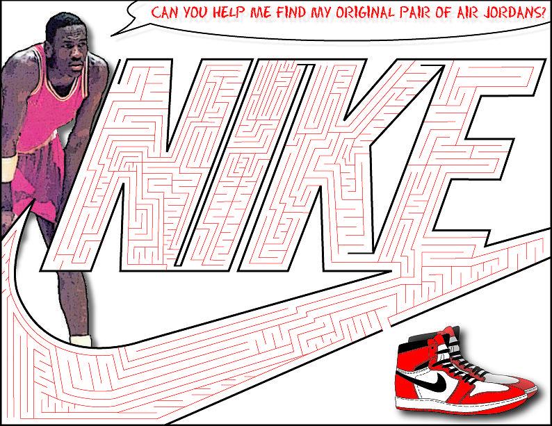 Nike Maze Digital Art by Derrickio Richards