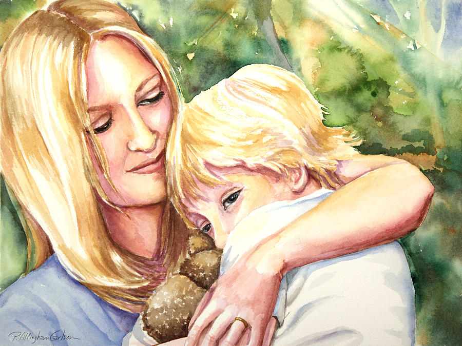 Mother Painting - Nikki And Xander by Patricia Allingham Carlson