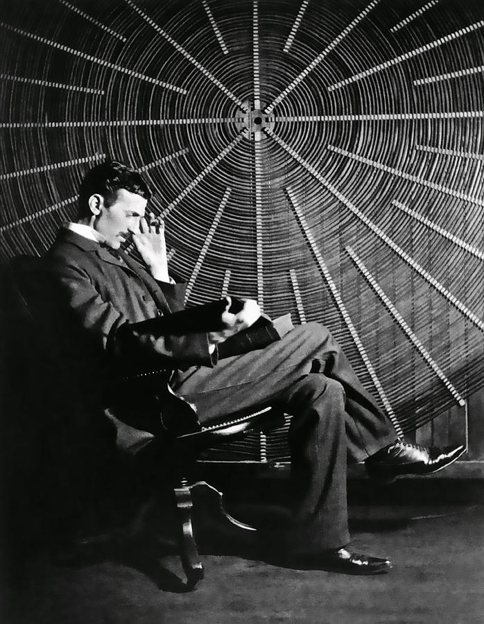 Tesla Photograph - Nikola Tesla And Machine by Daniel Hagerman
