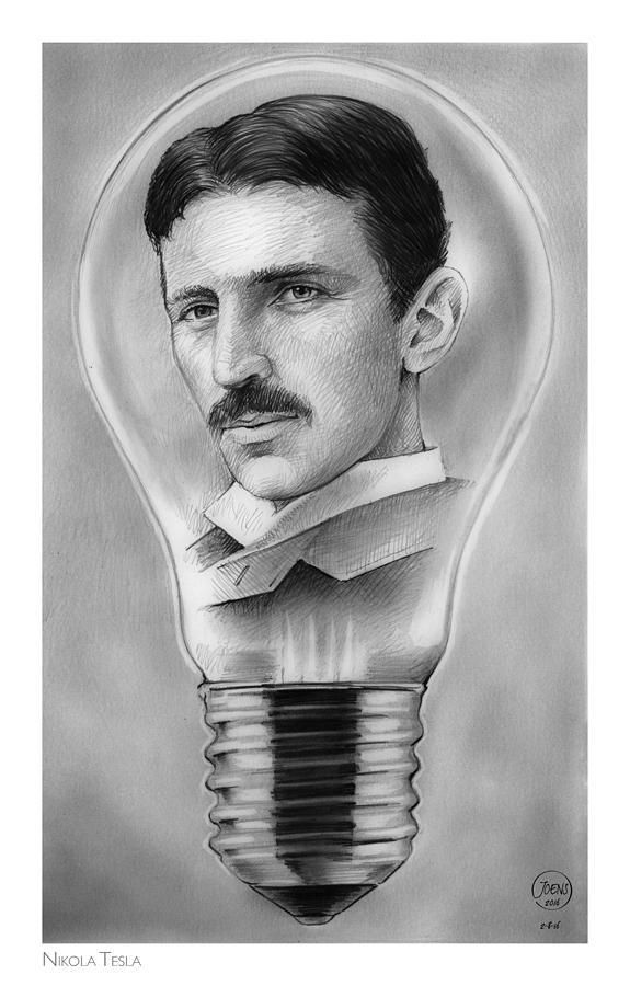 Nikola Tesla Drawing
