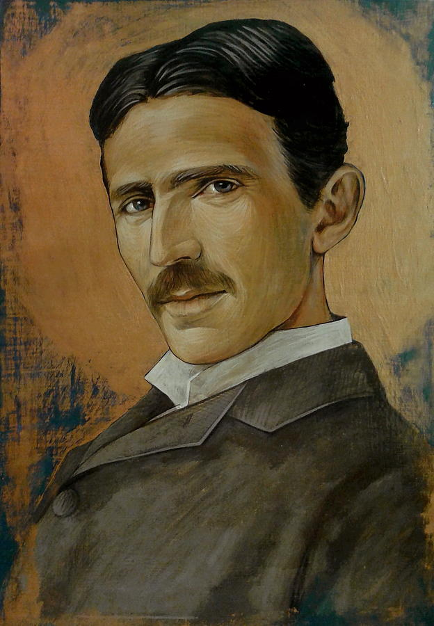 Nikola Tesla Painting - Nikola Tesla by Jovana Kolic