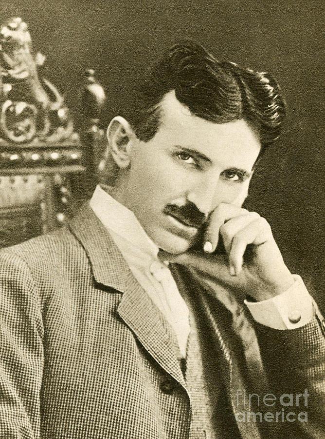 Science Photograph - Nikola Tesla, Serbian-american Inventor by Photo Researchers