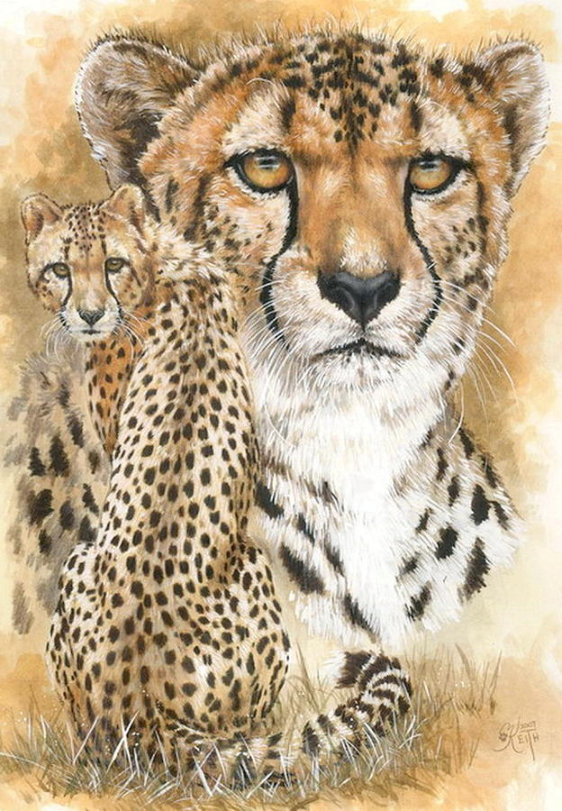Cheetah Mixed Media - Nimble by Barbara Keith