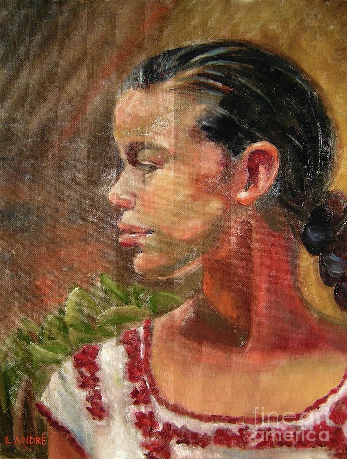 Mexico Painting - Nina de Trenza by Lilibeth Andre