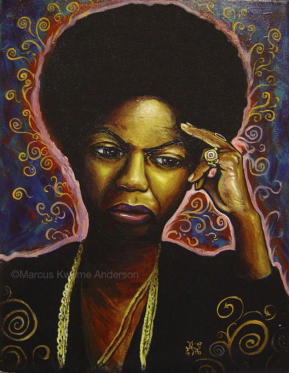 Nina Simone Painting - Nina by Marcus Anderson