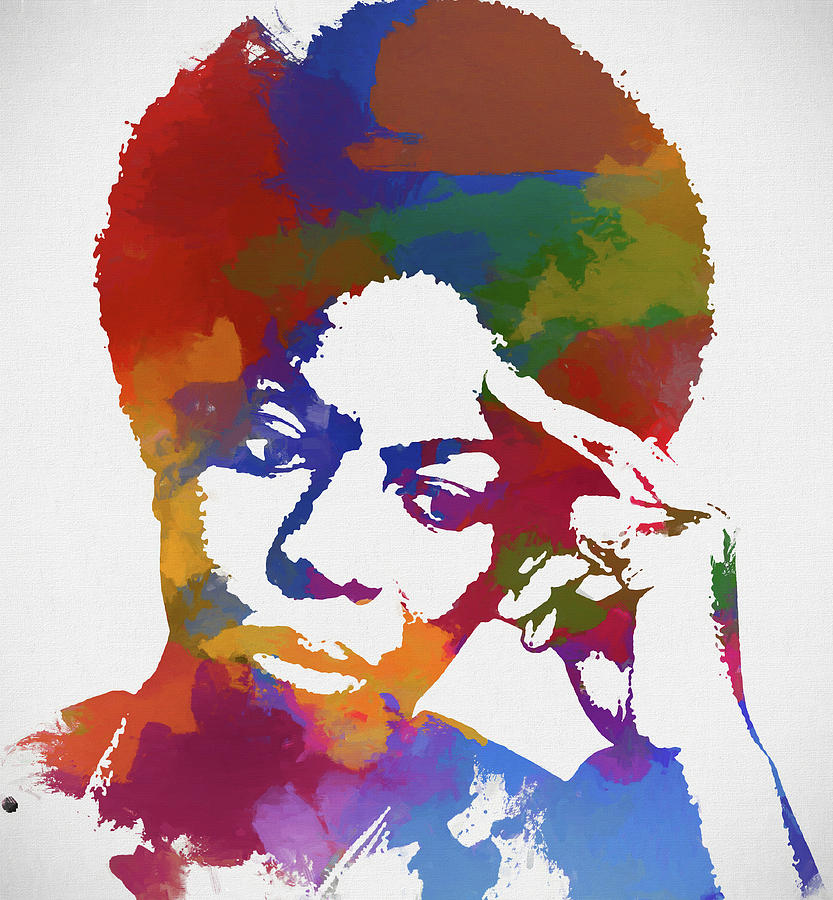 Nina Simone Painting - Nina Simone by Dan Sproul