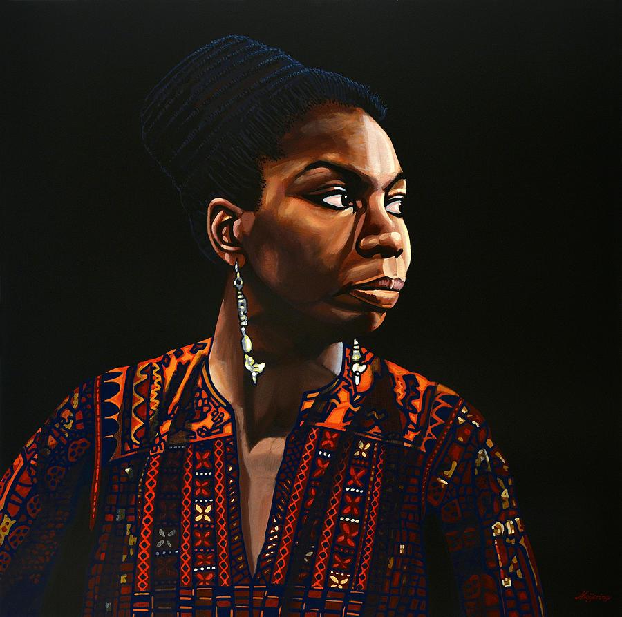Nina Simone Painting - Nina Simone Painting by Paul Meijering