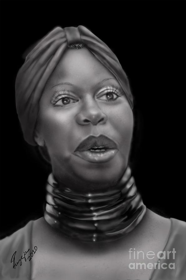 Nina Simone Painting - Nina Simone-revolution by Reggie Duffie