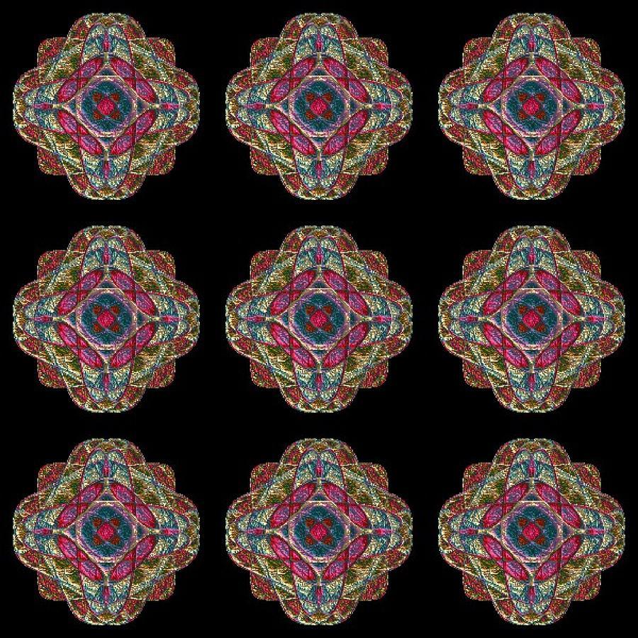 Digital Digital Art - Nine Medallions by Thomas Smith