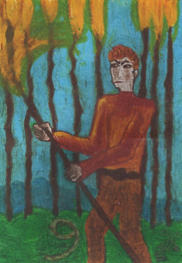 Tarot Pastel - Nine Of Wands Illustrated by Sushila Burgess