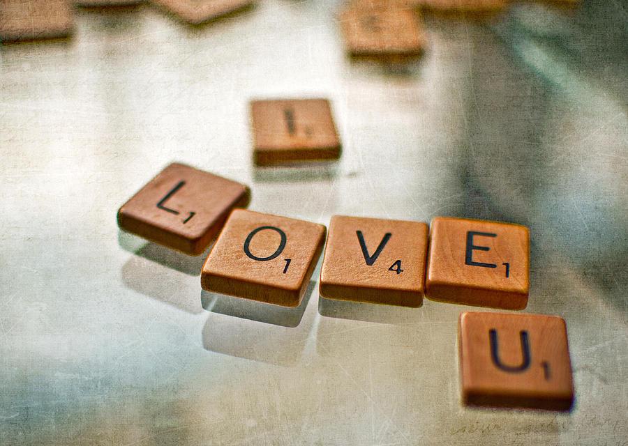 Scrabble Photograph - Nine Points by Tammy Lee Bradley