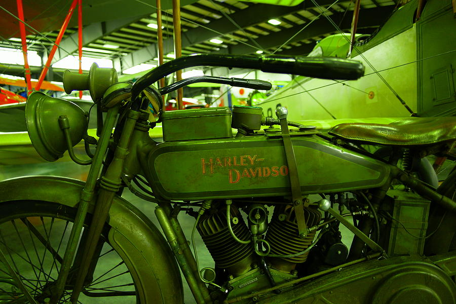 Motorcycle Photograph - Nineteen Eighteen Harley Davidson by Jeff Swan