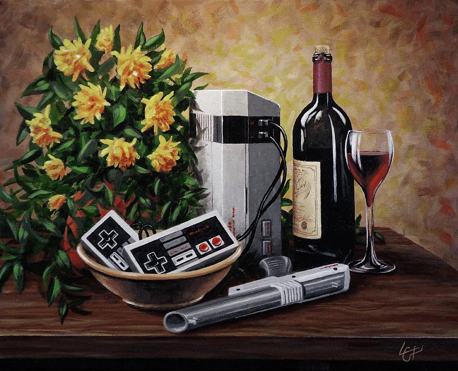 Nintendo Painting - Nintendo And Chill by Lucas Crawford