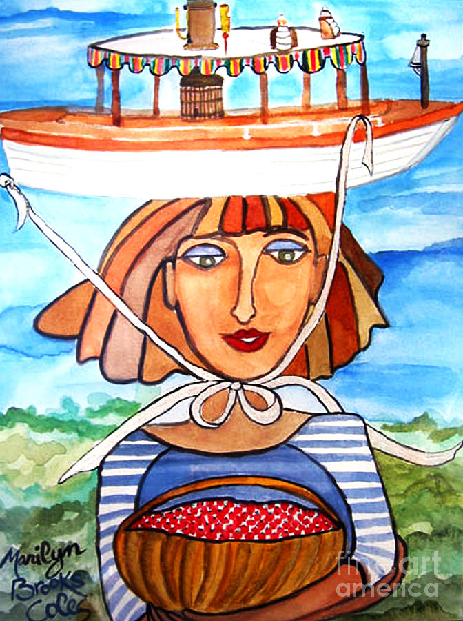 Boat Painting - Nipissing by Marilyn Brooks