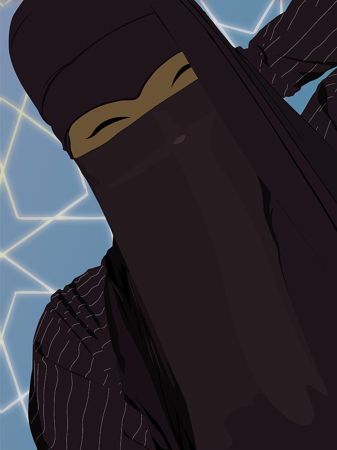 Muslim Digital Art - Niqabi Right by Scheme Of Things