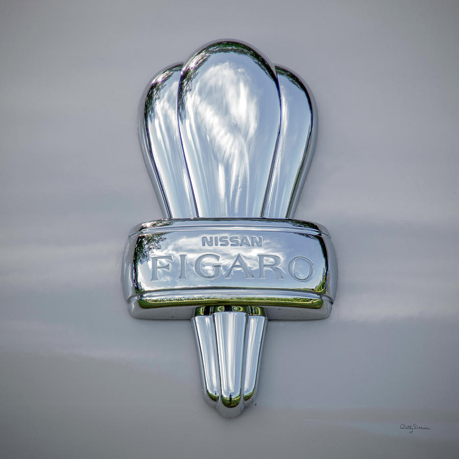 Nissan Photograph - Nissan Figaro Car Emblem by Betty Denise