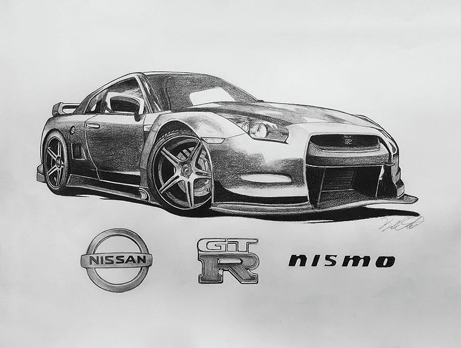 nissan gtr nismo coloring pages | How To Draw A Nissan Gtr Logo Nissan Recomended Car