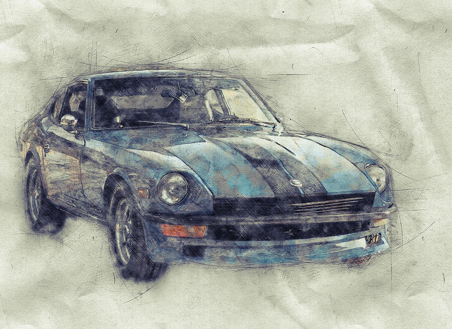 Nissan S130 - Datsun 280zx - Nissan Fairlady Z 1 - Automotive Art - Car Posters Mixed Media