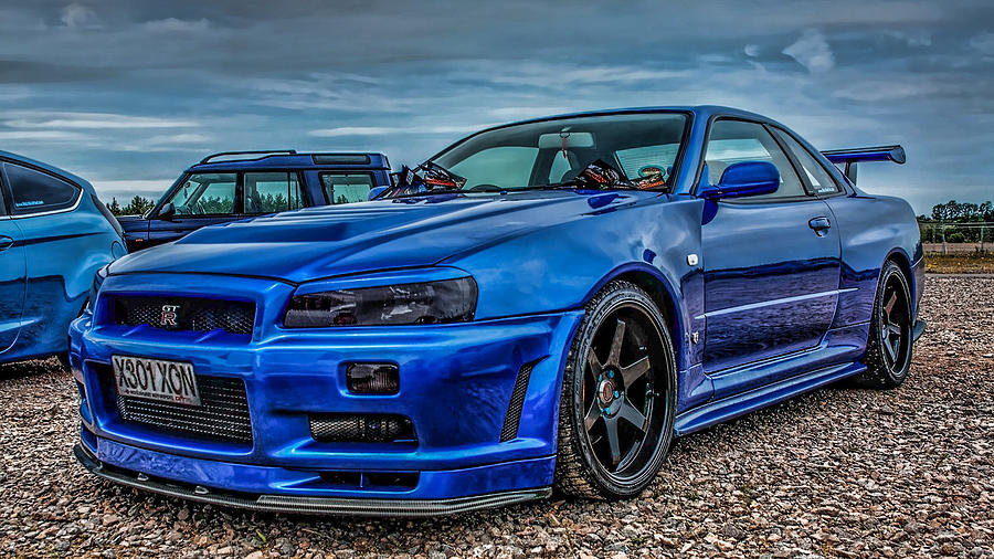 Nissan Photograph - Nissan Skyline Gtr R-34 by Mohamed Adam