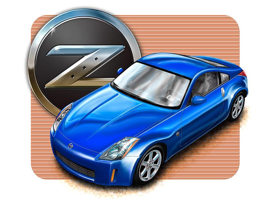 Nissan Z350 Blue by David Kyte