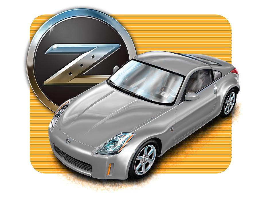 Nissan Z350 in Silver by David Kyte