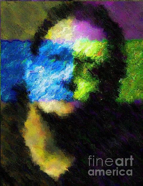 U2 Painting - Nixo Bono U2 by Nicholas Nixo