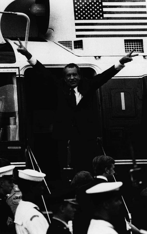 1970s Photograph - Nixon Presidency.   Former Us President by Everett