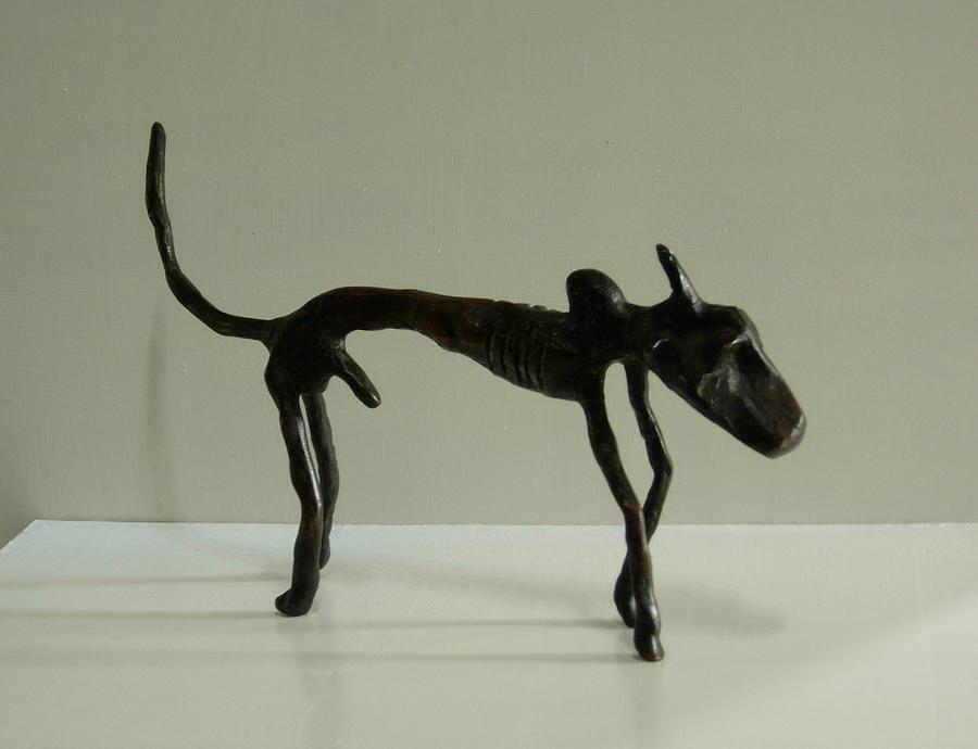 Bull Sculpture - No. 130 by Vijayan Kannampilly