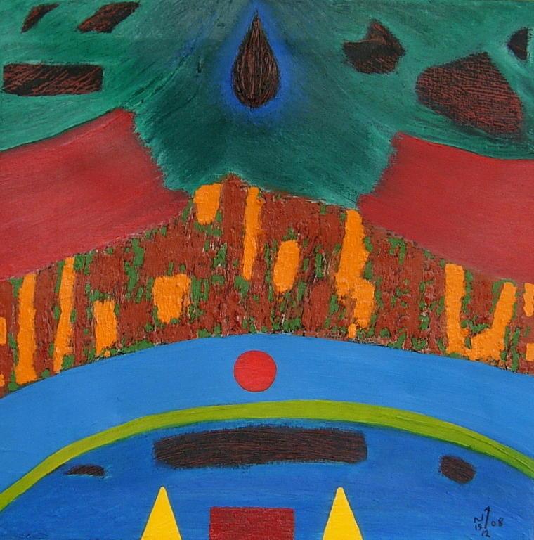 Abstract Painting - No. 335 by Vijayan Kannampilly
