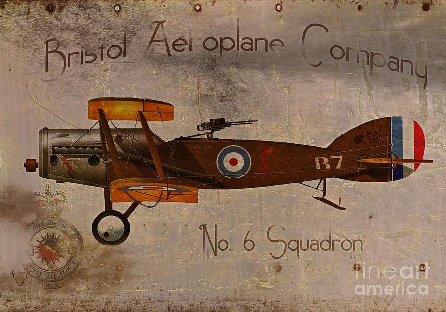 Ww1 Painting - No. 6 Squadron Bristol Aeroplane Company by Cinema Photography