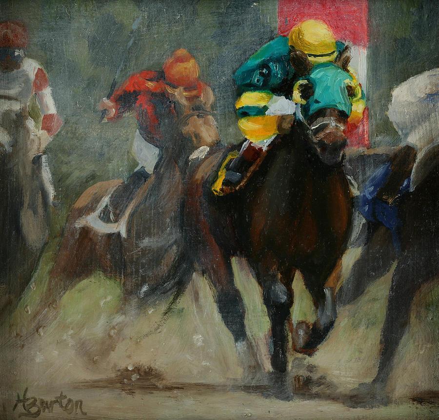 Saratoga Painting - No. 6 To Win by Heather Burton